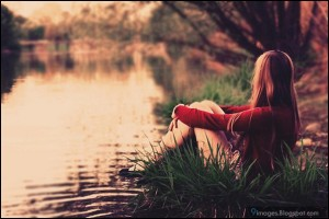 alone-girl-sad-lake-cute